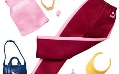 Barbie- Fashion Vestiti per Bambola Brandizzati Puma con Canottiera,…