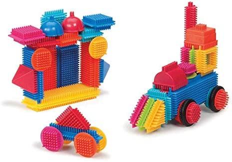 Battat - Costruzioni a Pettine Bristle Blocks, Secchiello, Modelli/Colori...
