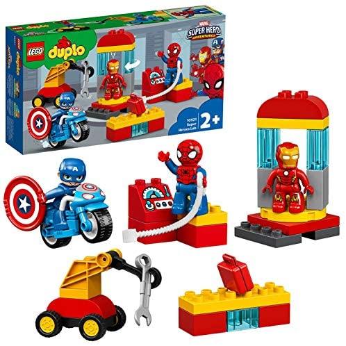 LEGO DUPLO Super Heroes Il Laboratorio dei Supereroi, Set di Costruzioni...