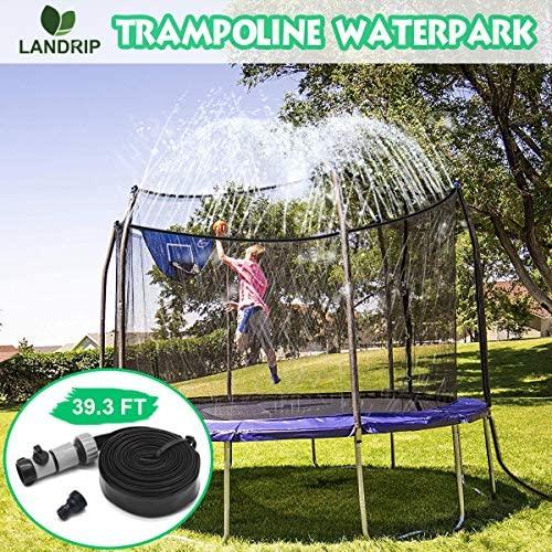Landrip Trampoline Sprinklers Giocattolo per Bambini, Trampolino Waterpark...