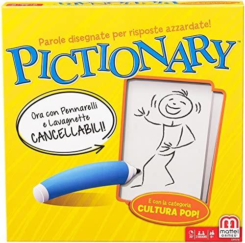 Mattel Games, Pictionary, Gioco in Scatola per Famiglie, Lingua Italiana,  ...