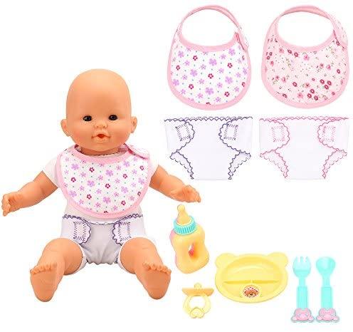 Miunana 9 Accessori per 14-16 Pollici Bambolotti Bambole Baby Dolls = 2...