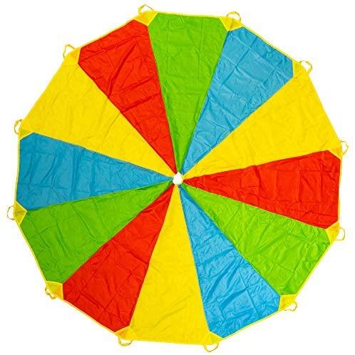 Paracadute ludico color arcobaleno da 365 cm - Con 12 manici - Ore di...
