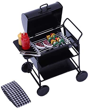 TOOGOO 1:12 Casa delle Bambole DIY Barbecue Auto Barbecue Accessori in...