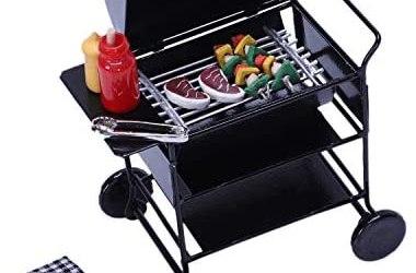 TOOGOO 1:12 Casa delle Bambole DIY Barbecue Auto Barbecue Accessori in…