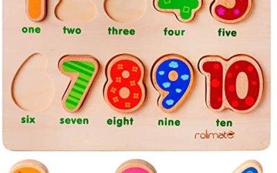 rolimate Puzzle di Legno Jigsaw Puzzle 10 Numeri Puzzle, Puzzle di…