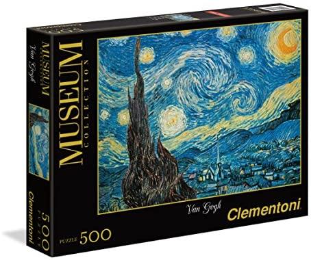 Clementoni- Van Gogh-Notte Stellata Museum Collection Puzzle, 500 pezzi,...
