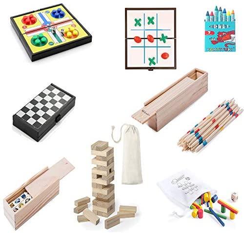 Partituki Pack di Giochi da Tavolo della Famiglia Kit di 7 Cere, Set di...