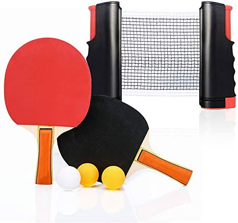 Set da ping pong con 2 pipistrelli-3 palline-1 reti da ping pong a...