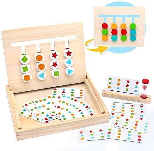 Symiu Montessori in Legno Puzzle Matematica Ordinamento Gioco Giocattolo...