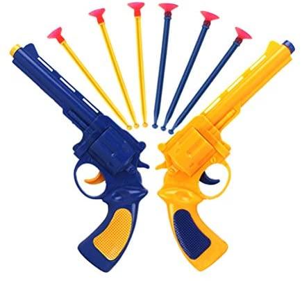 Toyvian Suction Bullet Gun Revolver Kids Fun Gioco all'aperto Sparatutto