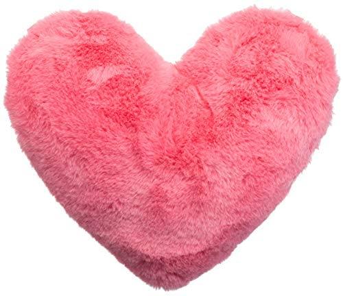Brandsseller - Cuscino a forma di cuore, in peluche, ca. 40 x 30 cm, rosa.,...