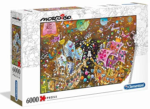 Clementoni - 36527 - Mordillo Puzzle - The Kiss - 6000 Pezzi - Made In...