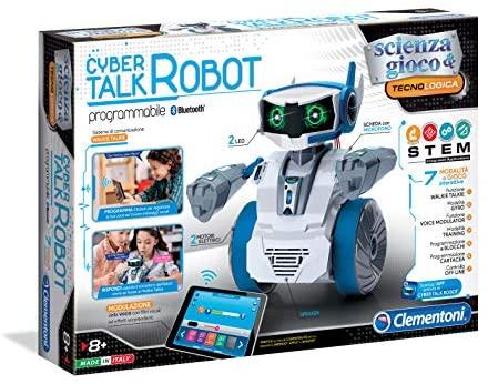 Clementoni- Cyber Talk Robot, Multicolore, 19051