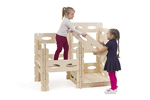 KateHaa Build & Play Montessori wooden playhouse set for kids outdoor...