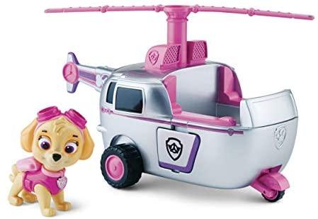 Paw Patrol- Skye e Il Suo Veicolo Elicottero, Multicolore, 6027645
