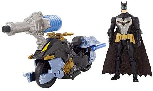 Batman FVY26 Missions Air Power Blast Attack/Bat Cycle Figure e giocattolo...
