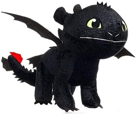 HTTYD Dragons Peluche Drago Sdentato Toothless Furia Buia 30cm -...