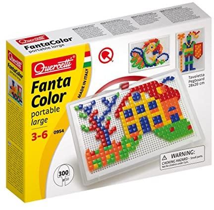 Quercetti- Fanta Color Portable Large Gioco di Composizione, Multicolore, 3...
