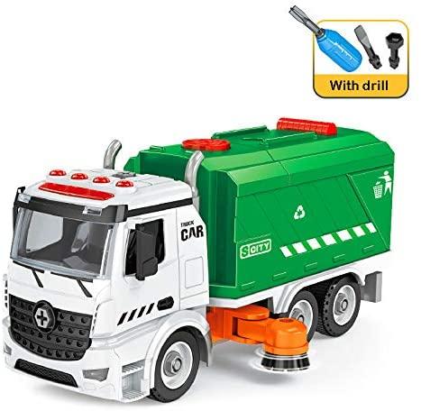 Assemblare Giocattoli Camion attrito della spazzatrice -DIY City Cleaner...