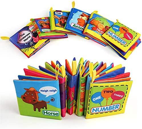 BelleStyle Libro Stoffa, Set Neonato, Quiet Book, Libro Tattile per...