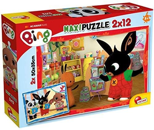 Lisciani Giochi-A Scuola Puzzle, 2x12 Pezzi, Multicolore, 81233