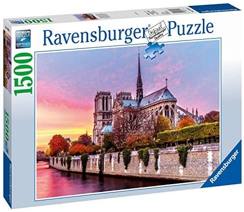 Ravensburger Italy- Puzzle Notre Dame al Tramonto, 1500 Pezzi, 16345 8