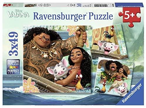 Ravensburger Italy- Puzzle Vaiana Oceania, 3 x 49 Pezzi, 08004 5