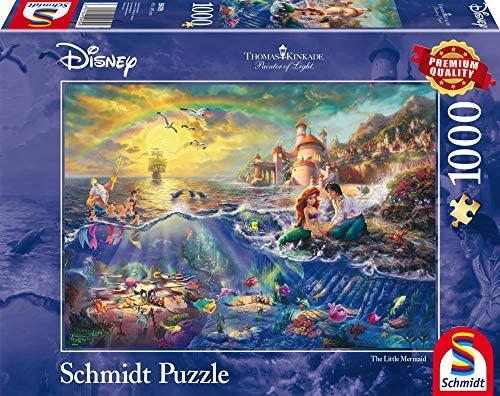 Schmidt Puzzle la Sirenetta Ariel Thomas Kinkade 1000 Pezzi, 59479
