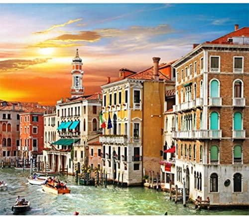 GuDoQi Puzzle da 500 Pezzi Adulti Puzzle Venezia Canal Grande per Bambini...