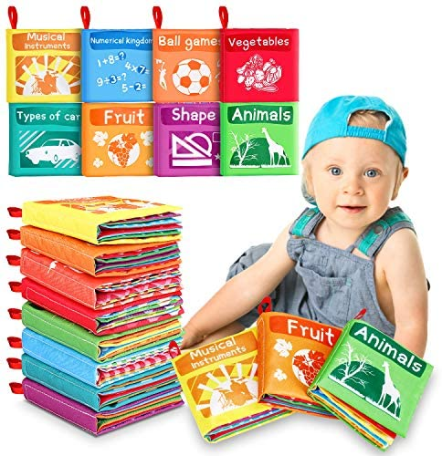 Libri di Stoffa Baby 8 Set, Il Mio Primo Libro Morbido Non Tossico Libro,...