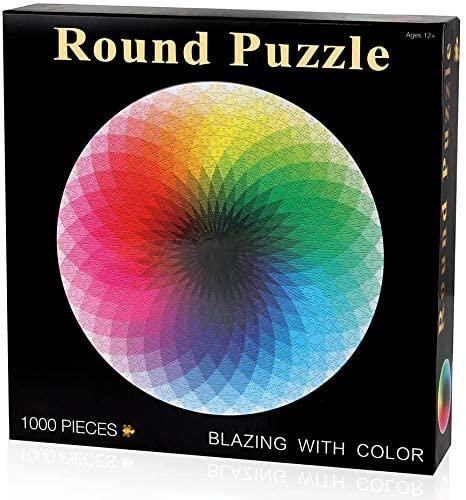 NIID Puzzle Classici 1000 Pezzi Puzzle Rotondo Creativo Arcobaleno...