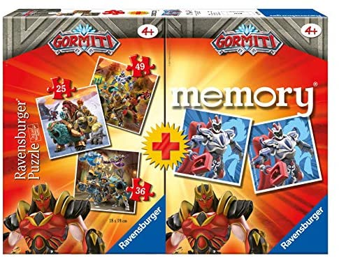 Ravensburger- Gormiti Multipack Gioco Educativo, 3 Puzzle e 48 Carte,...