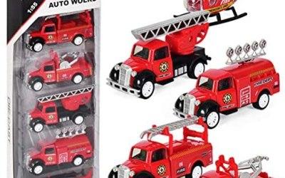 Dreamon Mini Auto Giocattolo Lega Plastica Camion dei Pompieri Veicoli con…