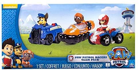 PAW Patrol Confezione da 3 Veicoli Rescue Racers, Ryder, Zuma e Chase, dai...