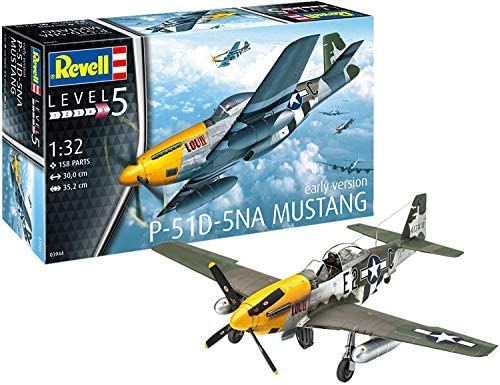 Revell-P-51D-5NA Mustang (Early Version) Kit di Modelli in plastica,...