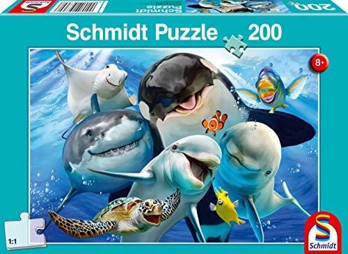 Schmidt Spiele- Puzzle da 200 Pezzi per Gli Amici subacquei, Multicolore,...