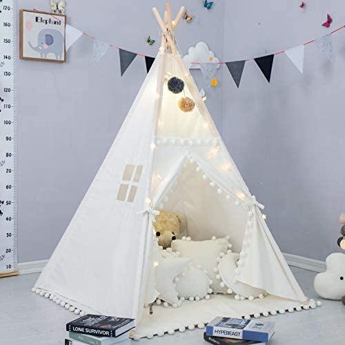 Tenda per Bambini con Tappetino Imbottito, Tenda da Gioco Pieghevole con...