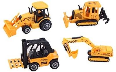 ToyZe Set 5 in metallo e plastica diecast per veicoli da costruzione,…