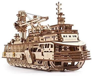 UGEARS Puzzle 3D in Legno per Adulti - Modello Meccanico di Una Nave da...