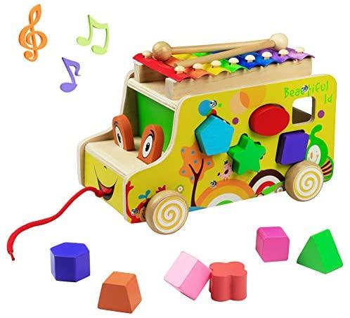 yoptote Xilofono Legno Bambini Gioco di Legno Strumento Giocattoli Musicali...