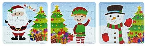 12 Natale Puzzle - 25 Pezzi Mini Puzzle - Ragazzi Ragazza Unisex Accessori...