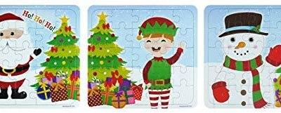 12 Natale Puzzle – 25 Pezzi Mini Puzzle – Ragazzi Ragazza Unisex Accessori…