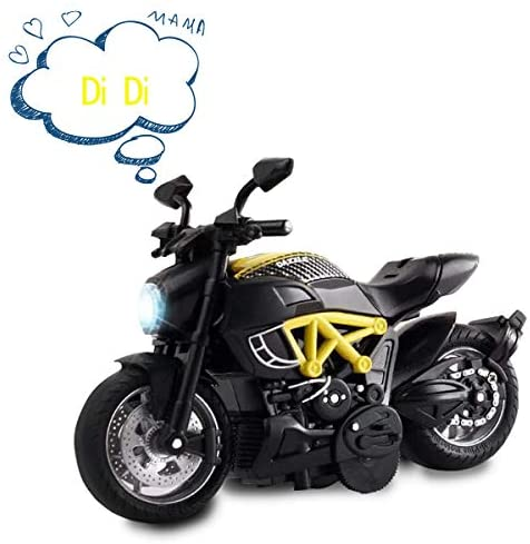 AlLCELE - Auto da moto con suono e luce, giocattolo per bambini per 3 anni,...