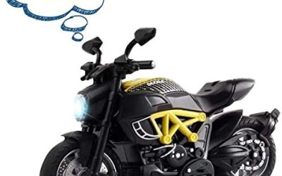 AlLCELE – Auto da moto con suono e luce, giocattolo per bambini per 3 anni,…