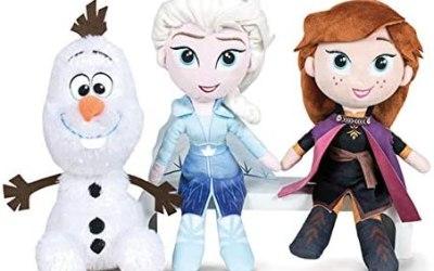 Disney Frozen – Confezione da 2 Peluche 20cm Princesses Elsa e Anna + Olaf…