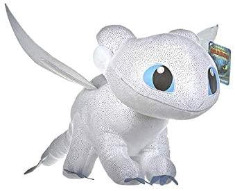 Dragons Peluche Drago Furia Buia Bianca Colore Con Brillante Qualità Super...