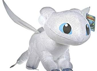 Dragons Peluche Drago Furia Buia Bianca Colore Con Brillante Qualità Super…