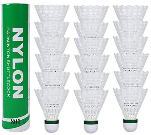 Fostoy Volani da Badminton, 18 Pezzi Volani in Nylon con Grande Stabilità e...