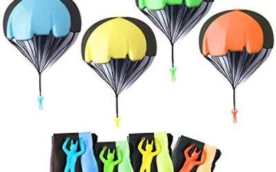 Herefun 10 Pezzi Giocattolo Paracadute, Paracadute per Bambini Set Ottimi…